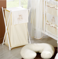 Luxusní praktický koš na prádlo - MRÁČEK krémový kr.