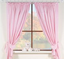 Krásné závěsy do pokojíčku - Snílek růžový