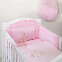 Luxusní mega set s moskytiérou - Mráček růžový kostička