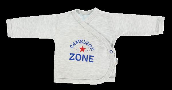 Mamatti Novorozenecká košilka Chameleon - zapínání bokem, šedá