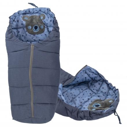 ICE BABY Luxusní fusák  4v1 Medvídek hvězdičky, 90x50cm - jeans