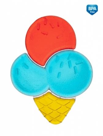 Canpol babies Kousátko vodní zmrzlina - modro/červená