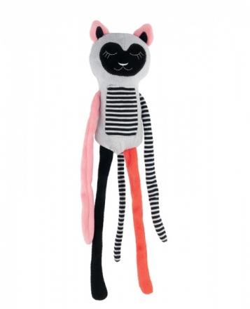 Canpol babies Plyšová hračka s rolničkou Spící lemur - korál