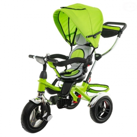 Dětská tříkolka Euro Baby  s vodící tyčí 2019 - zelená, K19