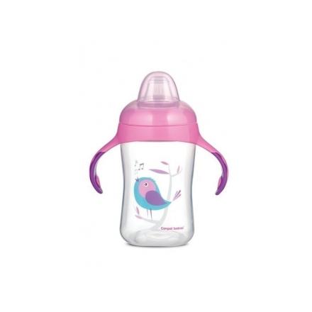 Tréninkový hrníček Canpol Babies s úchyty Birds - růžový