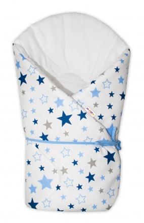 Zavinovačka na zavazování Baby Nellys Hvězdy a hvězdičky - modrá/granát na bílém