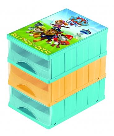 Keeeper Boxy na hračky - sada 3 šuplíků Paw Patrol