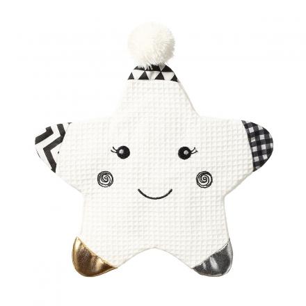 BabyOno Mazlík/šustík Smiling Star  - bílý