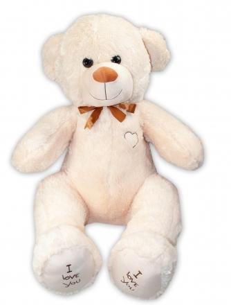 Baby Nellys Plyšový medvěd 120 cm - béžový