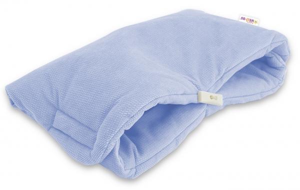 Luxusní rukávník Velvet Baby Nellys, 40 x 20cm - sv. modrá