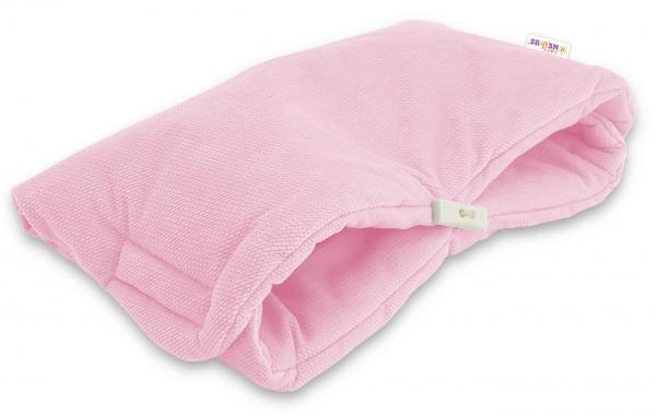 Luxusní rukávník Velvet Baby Nellys, 40 x 20cm - sv. růžová