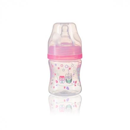 BabyOno Antikoliková lahev se širokým hrdlem Baby Ono - růžová