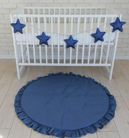 Baby Nellys Dětská hrací podložka, kobereček s volánkem - granátová