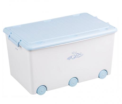 Tega Baby Pojízdný box na hračky Zajíček - bílý