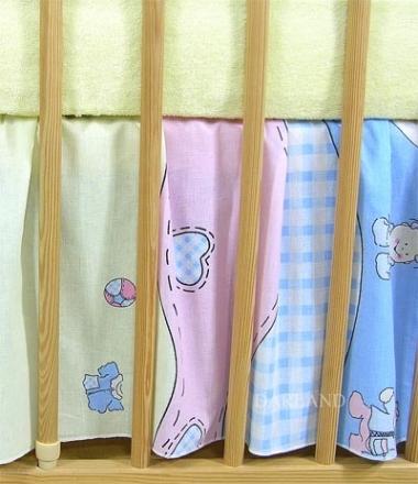 Darland VÝPRODEJ Krásný volánek pod matraci - Čáp modrý