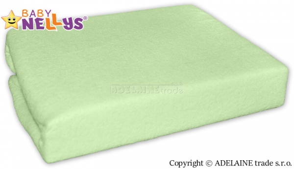 Baby Nellys Nepromokavé prostěradlo 120x60cm - zelené