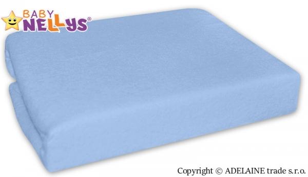 Baby Nellys Nepromokavé prostěradlo 120x60cm - sv. modrá