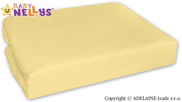 Baby Nellys Nepromokavé prostěradlo 120x60cm - žluté, krémové