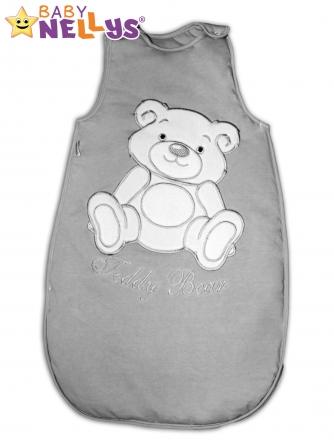 Spací vak Teddy Bear Baby Nellys - šedá vel. 2