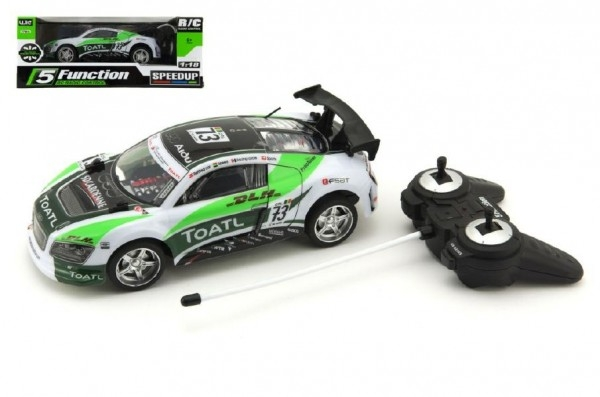Auto RC 25cm plast zrychlující 1:18 na baterie 27MHz v krabici