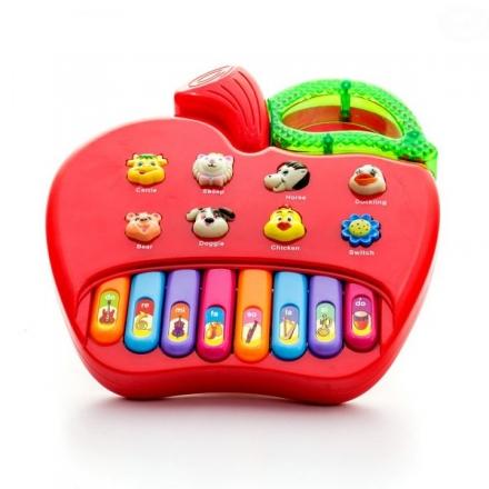 Euro Baby Edukační hračka hrající jablko - červené