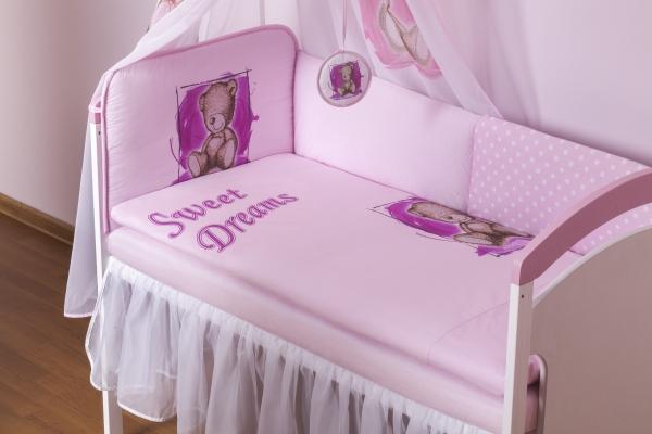 BABY NELLYS Šifónový volánek Sweet Dreams by Teddy - bílý