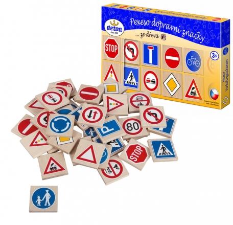 Pexeso Dopravní značky, dřevo