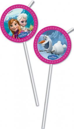 Slámky Frozen - Ledové království 6 ks