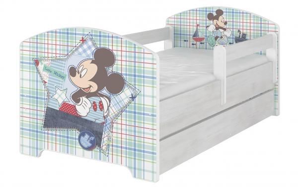 BabyBoo Dětská postel Disney s šuplíkem - Mickey Mouse, D19