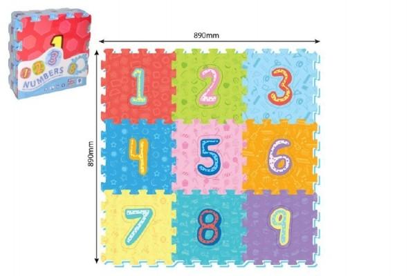 Pěnové puzzle číslice 9ks 32x32cm 10m+