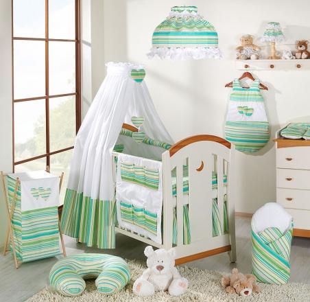 Mamo Tato Krásný volánek pod matraci - Proužek zelený
