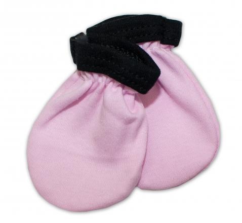 Baby Nellys Kojenecké rukavičky Little princess - růžové