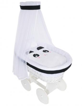 Nellys - Koš bílý s výbavou Animal - Panda bílá