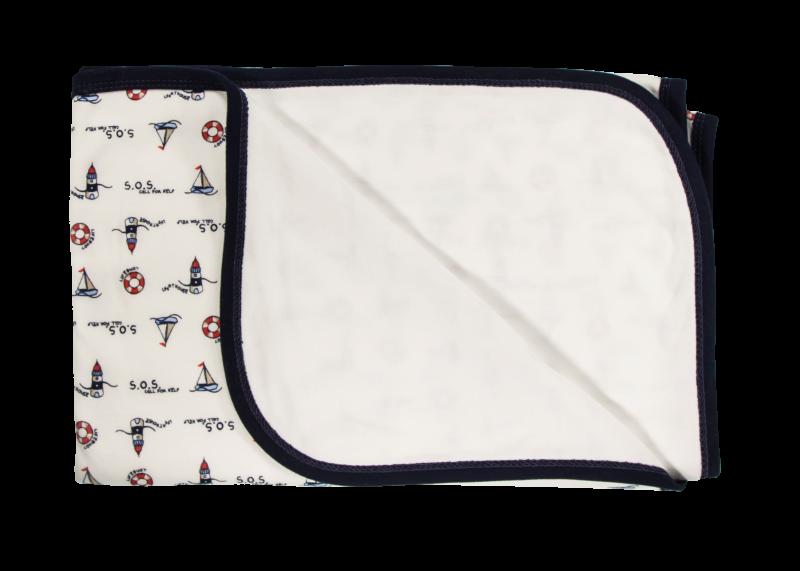 Dětská deka, dečka Maják,  80x90 - bavlna, granát