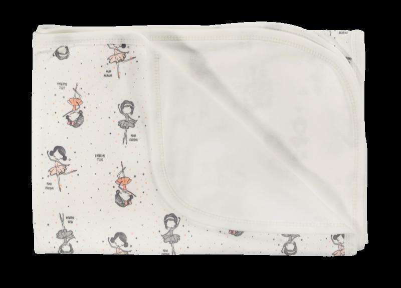 Dětská deka, dečka Baletka,  80x90 - bavlna, bílá