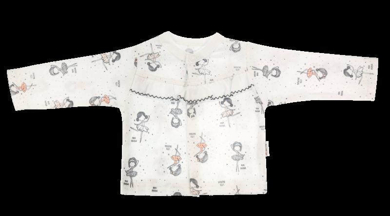 Mamatti Bavlněná košilka Baletka - bílá, vel. 62