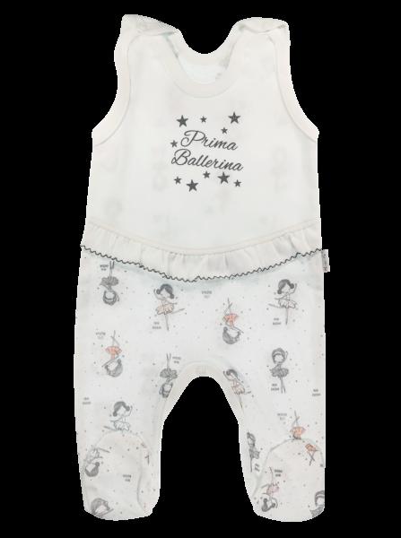 Kojenecké bavlněné dupačky Baletka, bílé, vel. 68