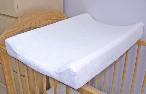 Jersey potah na přebalovací podložku, 60cm x 80cm  - bílý