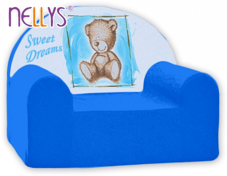 Náhradní potah na dětské křeslo Nellys - Sweet Dreams by Teddy - modrá