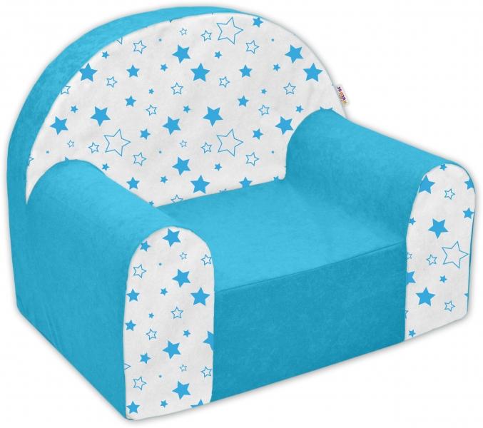 Náhradní potah na dětské křeslo Nellys - Magic stars - modré