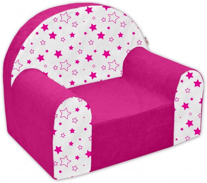 Náhradní potah na dětské křeslo Nellys - Magic stars - růžové