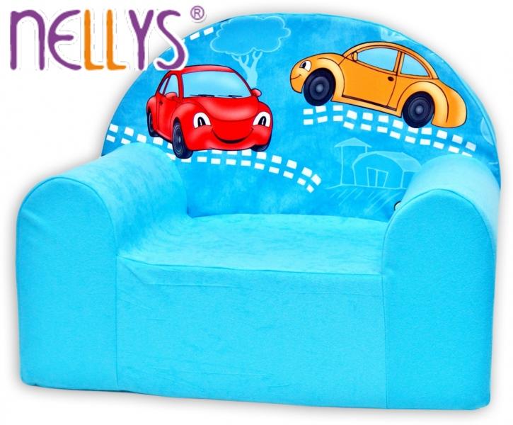 Náhradní potah na dětské křeslo Nellys - Veselá autička v modrém
