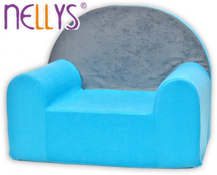 Náhradní potah na dětské křeslo Nellys - Šedá s modrou