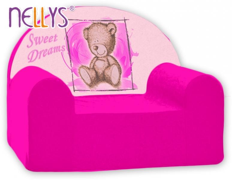 Náhradní potah na dětské křeslo Nellys - Sweet Dreams by Teddy - růžová