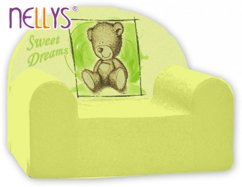 Náhradní potah na dětské křeslo Nellys - Sweet Dreams by Teddy - zelené
