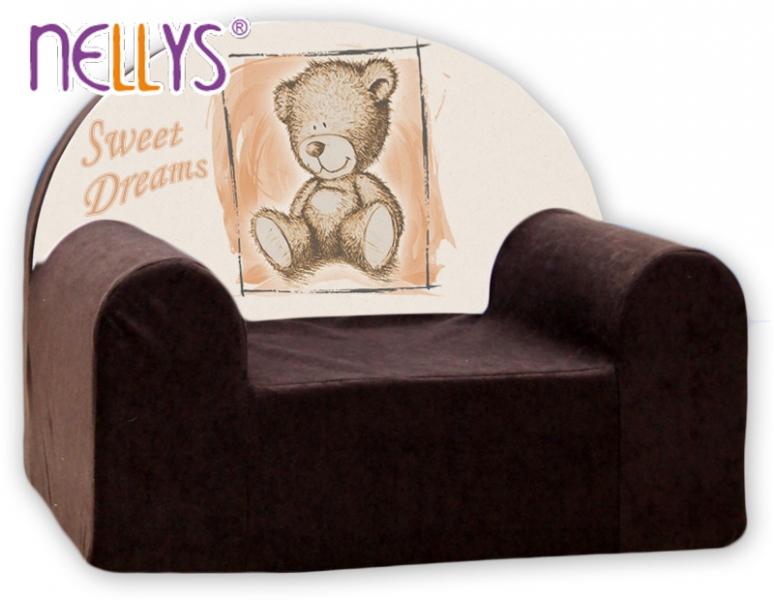 Náhradní potah na dětské křeslo Nellys - Sweet Dreams by Teddy - hnědé