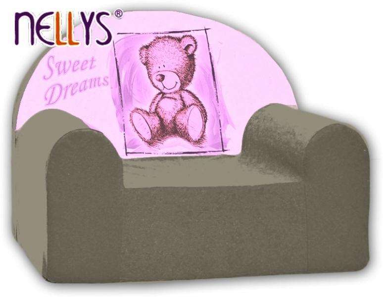 Náhradní potah na dětské křeslo Nellys - Sweet Dreams by Teddy - šedé
