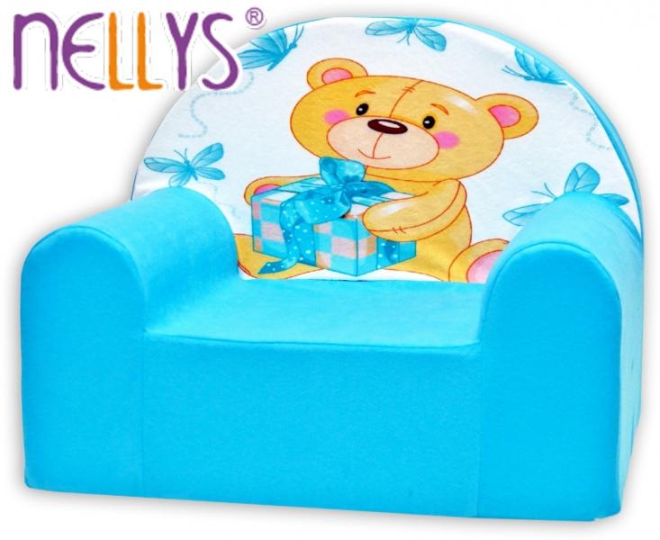 Náhradní potah na dětské křeslo Nellys - Míša Nellys v modrém