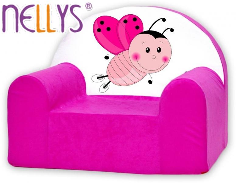 Náhradní potah na dětské křeslo Nellys - Beruška růžová
