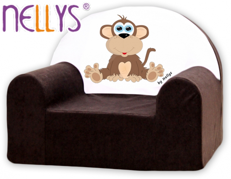 Náhradní potah na dětské křeslo Nellys - Opička Nellys hnědá